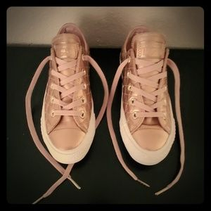 Converse Rose Gold sneakers sz 5.5
